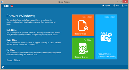 data recovery from windows 10 hard drive  - Main Screen