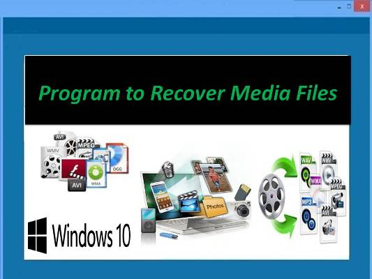 Amazing media file recovery tool for Windows
